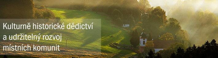 záhlaví: Kulturně historické dědictví a udržitelný rozvoj místních komunit